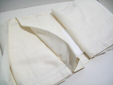 "Pottery Barn Off White Ivory Cotton Linen Queen Bed Skirt 14"" Drop Bedskirt New"