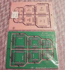 SMT 1006 PLCC Prototype Adapters 2 ea of 20, 44, and 68 pin adapters per board
