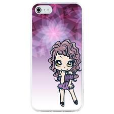 Coque rigide pour Apple iPhone 4 avec impression Motifs manga fille violetta