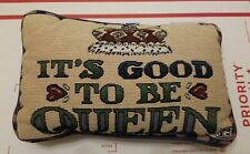 "Mary Engelbreit Me It's Good To Be Queen Tapestry Accent / Throw Pillow 12"" x 7"""