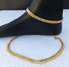 SOUTH INDIAN ANKLET BRACELET UK GOLD PLATED PAYAL SET BOLLYWOOD Fashion JEWELRY