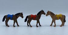 PLAYMOBIL Animals: Lot of 3 Modern Western Horses Horse