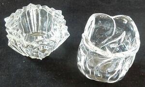 Vintage Votive Clear Tea Light Candle Holder Glass(looks like crystal)
