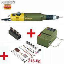 Proxxon multi herramienta herramienta multifuncional micromot 60 e (50e) adaptador de alimentación + accesorios