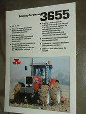 Prospectus MASSEY FERGUSSON 3655  Tracteur tractor traktor brochure prospekt