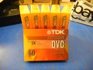 TDK DIGITAL VIDEO CASSETE 60 MIN LOT OF 6 NEW