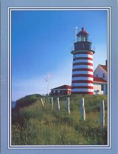 Blank Note Card : Quoddy Lighthouse Lubec Me-Photo by Allan Wood