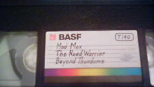 Mad Max Trilogy 1980s cult classics VHS blank tape BASF Road Warrior Thunderdome