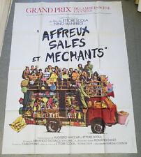 Affiche de cinéma : AFFREUX, SALES ET MECHANTS de Ettore SCOLA
