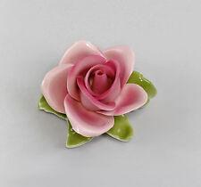 Valentinstag 2 x Deko-Rose Porzellan rosa Ø 7,5-8,5 cm Liebe Hochzeit Love