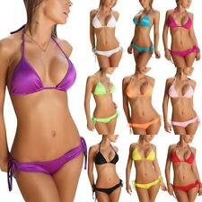 Neu Damen Neckholder Swimwear Bikini Bademode Badeanzug Strand Tankini G-String