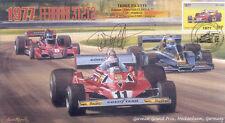 1977 FERRARI WOLF-COSWORTH BRABHAM ALFA ROMEO F1 cover signed TEDDY PILETTE