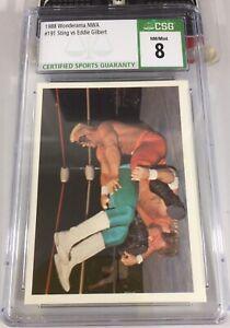 Sting Vs Eddie Gilbert 1988 Wonderama Nwa #191 Rookie Csg 8