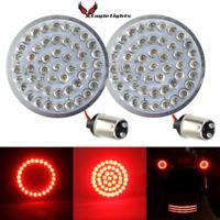 """Eagle Lights 2"""" Bullet LED Rear 1157 Turn Signal Inserts for Harley Davidson"""