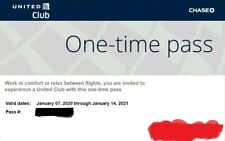 1x United Airlines Club One-Time Pass E-Delivery Expires Jan. 2021