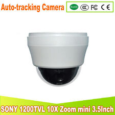 Auto tracking 10X  Zoom 1200TVL SONY mini PTZ  high Speed analog Dome PTZ Camera