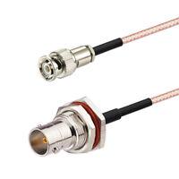Mini BNC Male to BNC Female Bulkhead 75Ω RG-179 HD SDI Vedio Cable 30cm