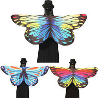 Women Soft Fabric Butterfly Wings Fairy Ladies Nymph Pixie Costume Accessory AU