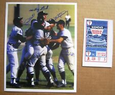 1968 World Series Detroit Tigers Game 7 on-field celebration 8x10 photo w ticket