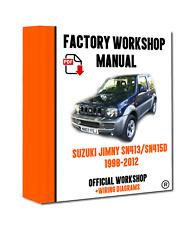 OFFICIAL WORKSHOP Manual Service Repair Suzuki Jimny  SN413/SN415D 1998- 2012