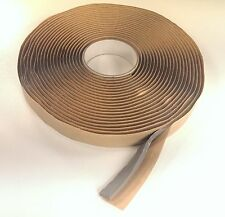 """5/16"""" x 1/2"""" x 20' Gray Butyl Tape Log Home Camper Duct Seal Peel and Stick USA"""