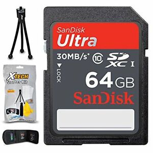 SanDisk 64GB SD Memory Card f/ Canon EOS Rebel T7i T7 T6i T6S T6 T5i T5 T4i T3i