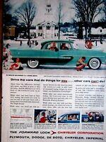 """1955 Plymouth Belvedere 4 Door Sedan Original Print Ad 8.5 x 11"""""""