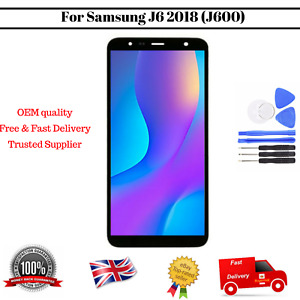 Display For Samsung Galaxy J6 2018 SM-J600F LCD Touch Screen Black Replacement