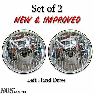 Lucas PL700 7'' Halogen Headlights Set of 2 with bulbs - NEW & IMPROVED