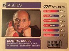 General Gogol #15 Allies - 007 James Bond Spy Files Card