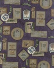WI Shop Hop 2017  Holly Taylor MODA Fabric by the 1/2 yd 6671 17 purple travel