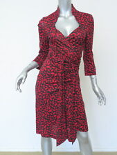 Diane von Furstenberg Dress Gildred Midnight Kiss Wrap Black and Red Size 10