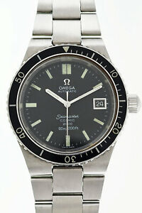 OMEGA Seamaster Cal.1012 Black Dial Automatic Vintage Watch 1972's Overhauled