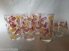 7 Vintage KODAK CAMERA FILM BAR GLASSES LOW BALL MID CENTURY MODERN