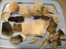 Lot Of Fly Tying Fur, Elk, Beaver, Deer, Turkey, Moose, Mink, Bighorn, Cow Y