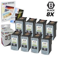 LD © Remanufactured Canon PG40 Set of 8 Black Inkjet Cartridges