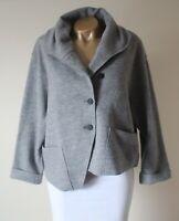 Elemente Clemente Jacket Size 2 12/14 100% Boiled Wool Boxy Oversized Lagenlook