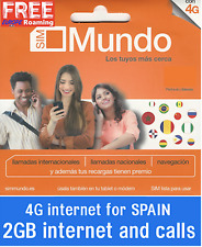 Tarjeta SIM/Micro/Nano de Prepago ORANGE MUNDO 10€. ROAMING !2GB INTERNET