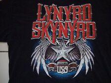 Lynyrd Skynyrd Rock Band Made In USA Concert Tour Fan Black T Shirt Size XL