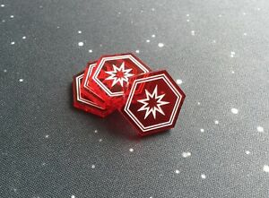 X-Wing 2.0 compatible, acrylic critical tokens - translucent series