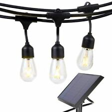 Volk 24ft Outdoor Waterproof SOLAR LED 10 Vintage Bulb String Lights 2W