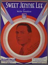 1930 SWEET JENNIE LEE Walter Donaldson GUY LOMBARDO Sheet Music