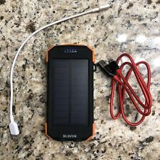 Blavor Solar Power Bank, Qi Portable Charger 10,000mAh Battery Pack Wireless