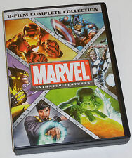 MARVEL ANIMATED FEATURES 8-FILM COMPLETE COLLECTION (2012) DVD SET AVENGERS HULK