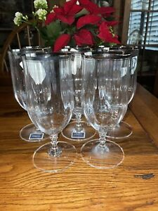 Mikasa Crystal SONATA PLATINUM Iced Tea Glasses ~ Set Of 8