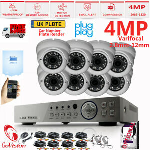 CCTV Security Kit 4MP Varifocal 30M Zoom In/Out Outdoor Home Security System Kit