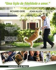 HACHIKO: A DOG'S STORY Movie POSTER 11x17 Brazilian Richard Gere Sarah Roemer