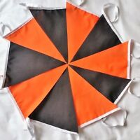 Halloween Bunting Fabric Orange Black 10ft 3 mtrs discount for multiples