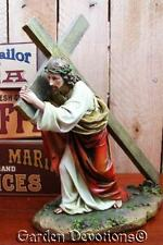 New! ~ 10'' JESUS CARRYING CROSS STATUE The Passion LENT ~ WAY OF THE CROSS