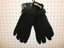 NordicTrack Mens L / XL Black 3M Thinsulate Isolant Fleece Gloves FREE Shpg NWTA